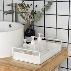철제 손잡이 욕실 수납정리 트레이 (대형)