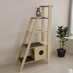 캣츠하우스 A계단형 고양이 자작나무 원목 캣타워