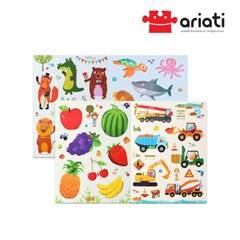집콕놀이세트 아기 자석퍼즐 4종-과일/자동차/바다/동물
