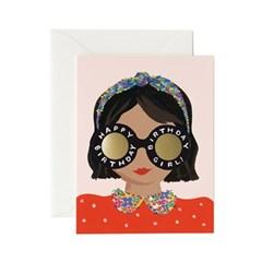 Headband Birthday Girl Card 생일 카드