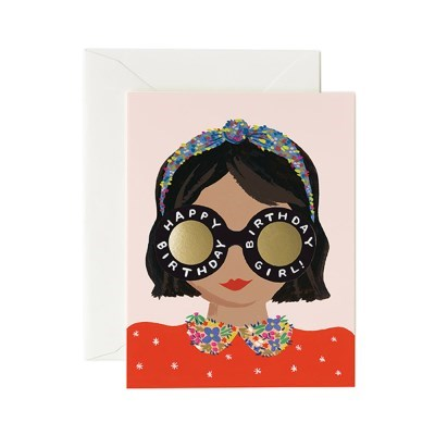 Headband Birthday Girl Card 생일 카드
