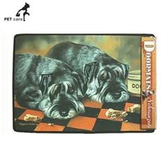 브라운트라우트 강아지 도어매트 슈나우저