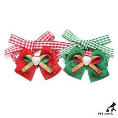 문펫 크리스마스 왕리본끈 2색x5개씩 10개 1판