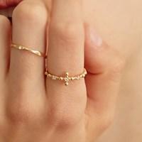[이기광,이태란 착용][silver925]cubic cross ring