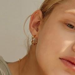 [루나,티파니 착용]twist hoop earring