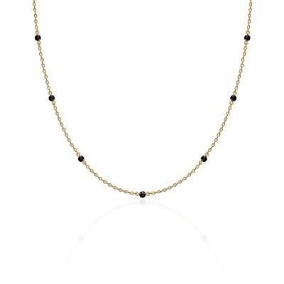 [나연,소유,문별,지숙 착용][silver925]Black spinel necklace