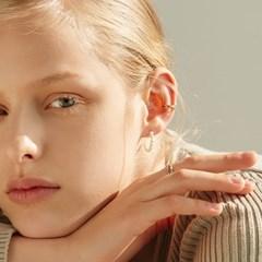 [신민아,류이서,지숙 착용][silver925]half pearl hook earring