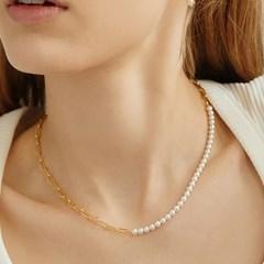 [다비치 이해리,미연 착용][silver925] link pearl chain necklace