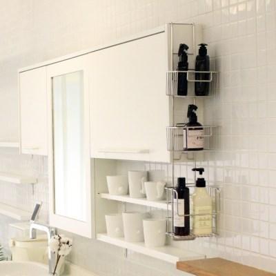 노바리빙 다용도 3단 매직 욕실 주방 선반 알루미늄 스테인레스