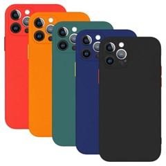 아이폰XR 컬러 슬림 포인트 커버 실리콘 케이스 P581_(3632285)