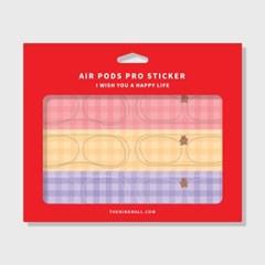check fluffy gummy 에어팟 프로 철가루 방지스티커