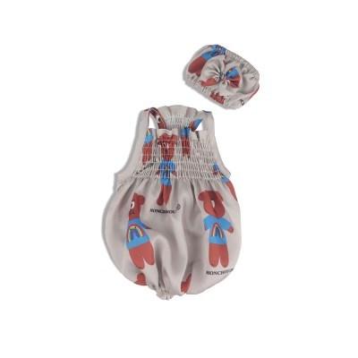 [monchouchou] Dumb Bear Sleepwear Set_Ecru Beige