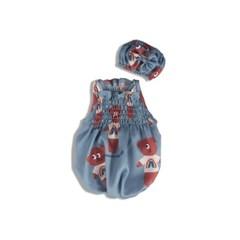 [monchouchou] Dumb Bear Sleepwear Set_Cobalt Blue