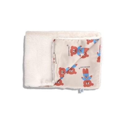 [monchouchou] Dumb Bear Fur Blanket_White Fur