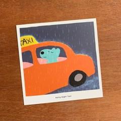 Rainy Night Taxi 엽서