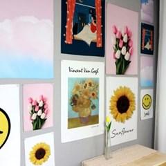 고흐 해바라기 그림 액자 벽걸이 패브릭 포스터