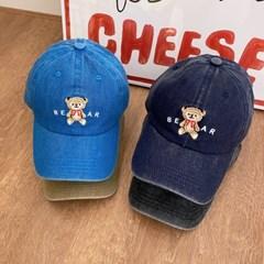 테디 워싱 코튼 야구 빈티지 곰돌이 모자 남녀공용 볼캡