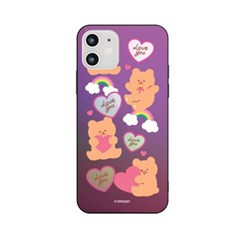 하푼 아이폰6 6S 러브베어패턴 홀로그램 미러케이스