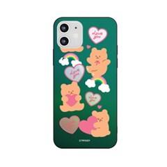 아이폰7+ 8플러스 러브베어패턴 홀로그램 미러케이스