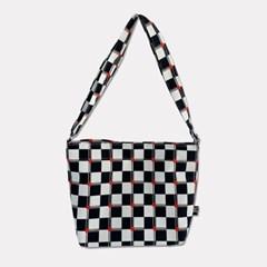 club check red cross bag
