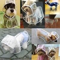 비오는날 애견 필수템 강아지 투명 우비 레인 코트