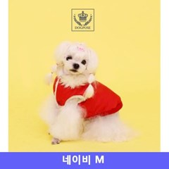 도그포즈 강아지 옷 트리밍 점퍼 네이비 M