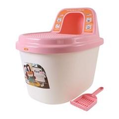 키플 탑엔트리 고양이 화장실 핑크