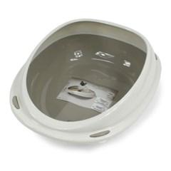 반려묘 평판형 라운드 화장실 모래튐 방지 반덮개