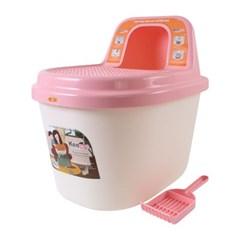 키플 탑앤트리 고양이 빅사이즈 후드형 화장실 핑크