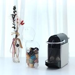 육각 투명아크릴 커피캡슐 정리보관함