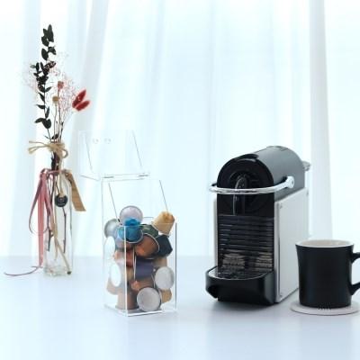 사각 투명아크릴 커피캡슐 정리보관함