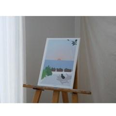 민트초코별 인테리어그림 [해돋이] A3/A2 일러스트 포스터