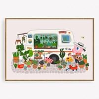 굴리굴리 포스터 FLOWER BAR (088)