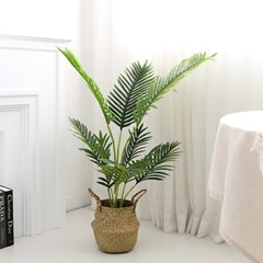 인조나무 그린 아레카야자 110cm 조화 화분 야자나무_(2349061)