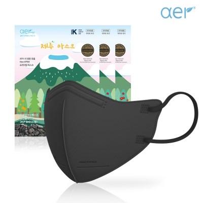 아에르 KF94 제주마스크 50매입 블랙,화이트 무료배송+손소독제 증정