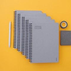모모팝 더 심플 스프링 그리드 노트 A5 (5권 세트)_(1994301)