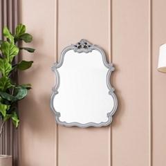 수입 엔틱가구 RG 12 웨이브 그레이 벽걸이 거울
