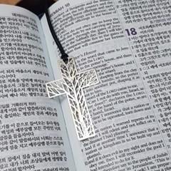 꿈꾸는나무 십자가 가죽줄 북마크