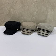 줄무늬 챙넓은 꾸안꾸 패션 헌팅캡 마도로스 모자