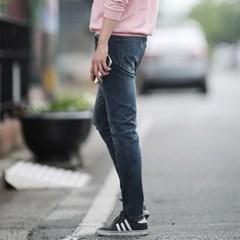 남자 겨울 밴딩 무릎 컷팅 스판 청바지