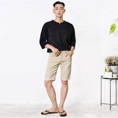 남자 여름 워싱 면 하프 캐쥬얼 반바지