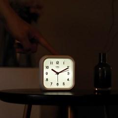 오리엔트 OT1636W 이지라이프 조명 알람 무소음 탁상시계, 화이트