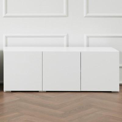 [에띠안]셀린 LPM 1200 거실장 tv다이 수납장 도어형 화이트