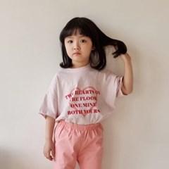 폴) 하트 아동 반팔 티셔츠-주니어까지