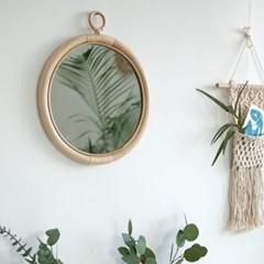 등나무 빈티지 벽거울
