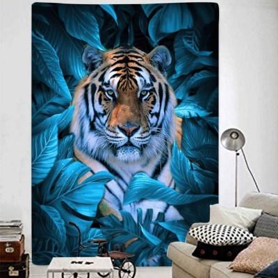 태피스트리 벽장식 패브릭포스터 - 정글 타이거 (150x130cm)