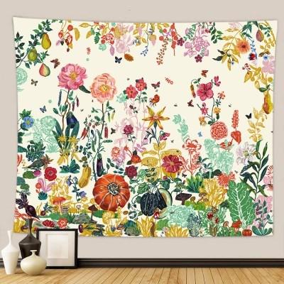 태피스트리 벽장식 패브릭포스터 - 플라워 가든 5 (150x130cm)