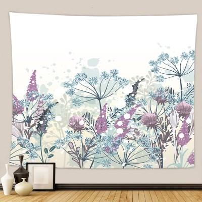 태피스트리 벽장식 패브릭포스터 - 플라워 가든 4 (150x130cm)