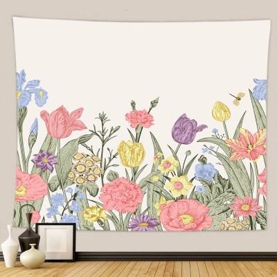태피스트리 벽장식 패브릭포스터 - 플라워 가든 3 (150x130cm)