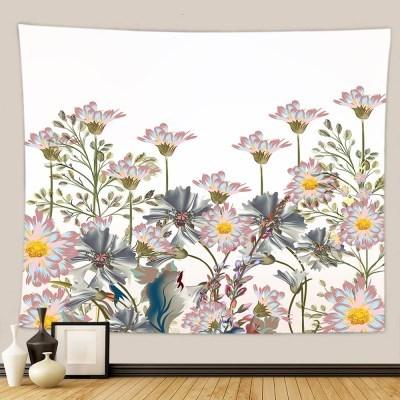 태피스트리 벽장식 패브릭포스터 - 플라워 가든 2 (150x130cm)